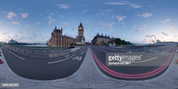 360° Panoramic View of the Westminster Palace and Big Ben, London