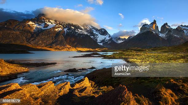 Panoramic view of Torres del Paine