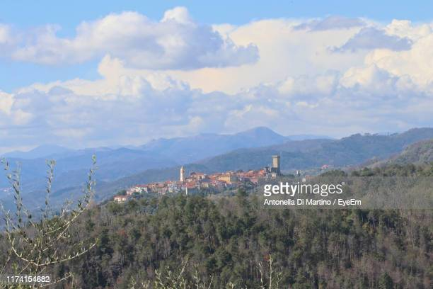 panoramic view of townscape against sky - antonella di martino foto e immagini stock