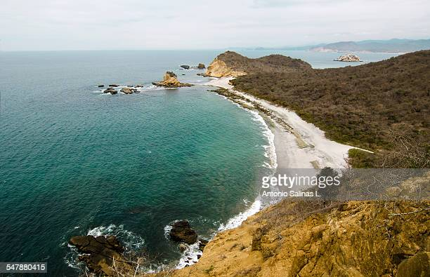 Panoramic view of turtle beach at The Frailes