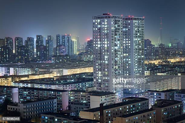 Panoramic view of typical residential area China