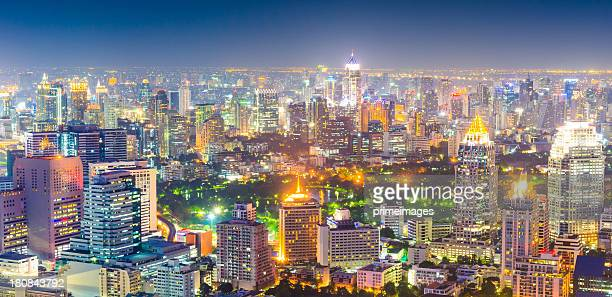 Panoramic view of urban landscape in Asia