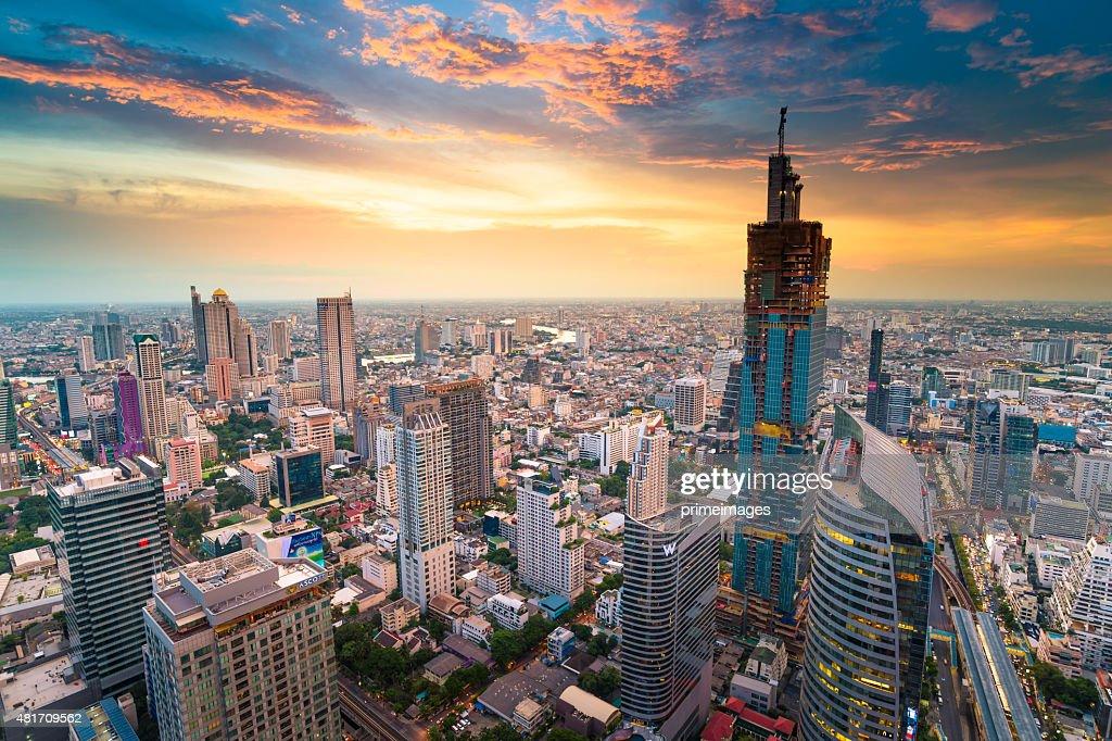 Panoramic view of urban landscape in Bangkok Thailand : Stock Photo