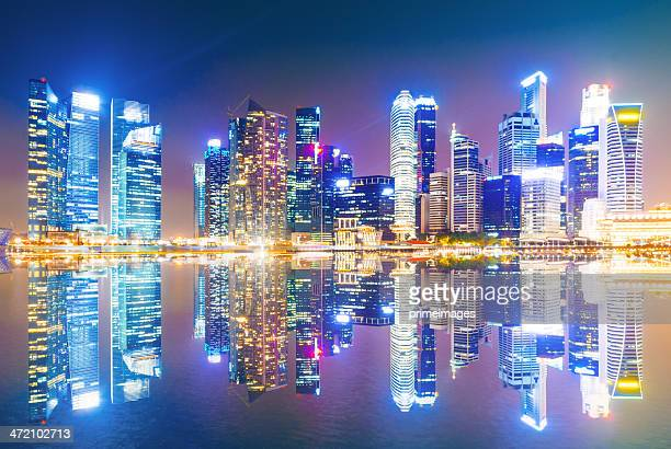 Panoramic view of urban landscape in singapore