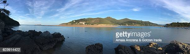 Panoramic view of Urdaibai estuary. Biscay province, Basque Country.