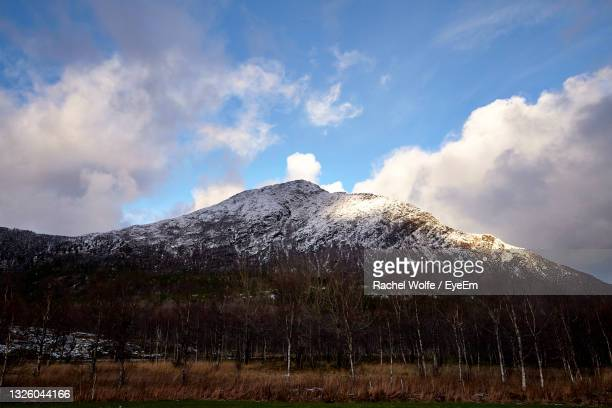 panoramic view of volcanic mountain against sky - rachel wolfe stock pictures, royalty-free photos & images