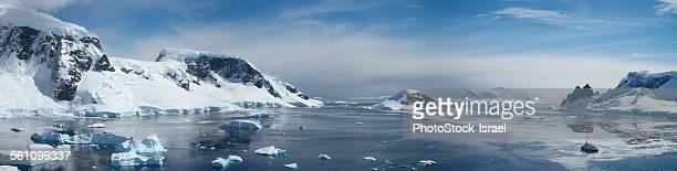 Panoramic view of Wilhelmina Bay, Antarctica