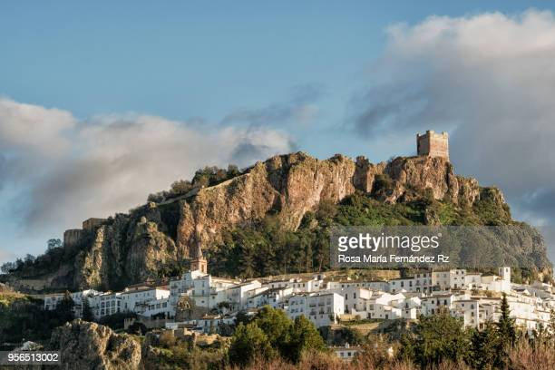 Panoramic view of Zahara de la Sierra, one of the most beautiful village of Cadiz, Andalucia, Spain.