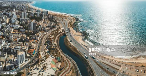 panoramic view on coastline of modern salvador da bahia - bahia state stock pictures, royalty-free photos & images