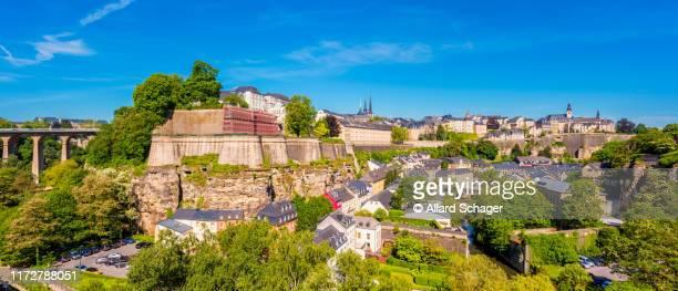 panoramic view on luxembourg city - 六月 ストックフォトと画像