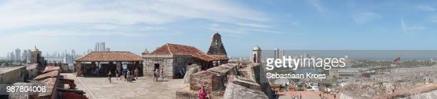 Panoramic view on the Castillo San Felipe Fortress, Cartagena, Colombia