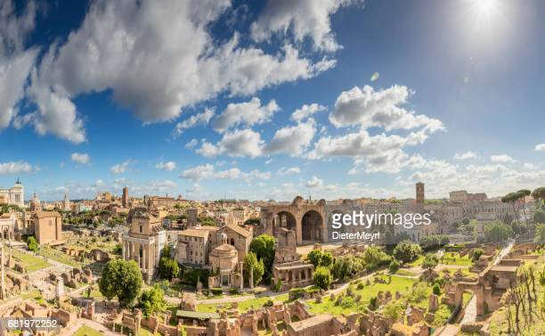Panoramic view over Ancient Rome