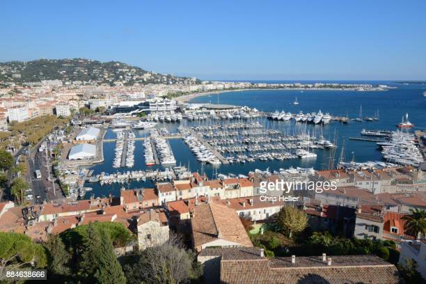 Panoramic View over Cannes Old Town, Marina & La Croisette