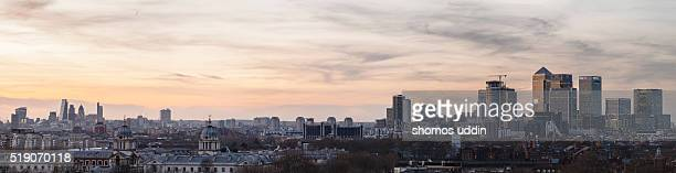Panoramic view over London city