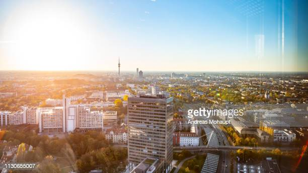 panoramic view over munich - munich stock pictures, royalty-free photos & images
