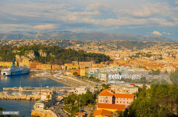 Panoramic View Over Nice City and Port
