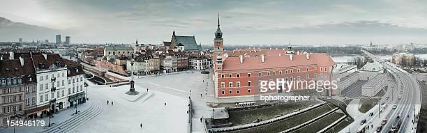 Vue panoramique sur la vieille ville de Varsovie, Pologne