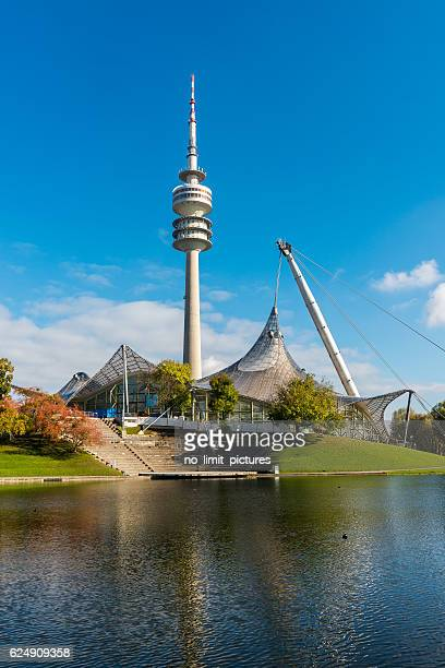 panoramic view over olympic park in Munich