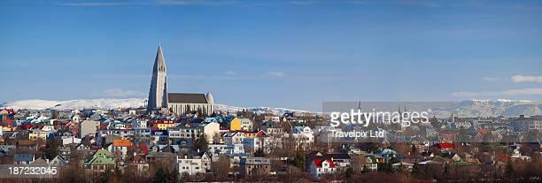 Panoramic view over Reykjavik