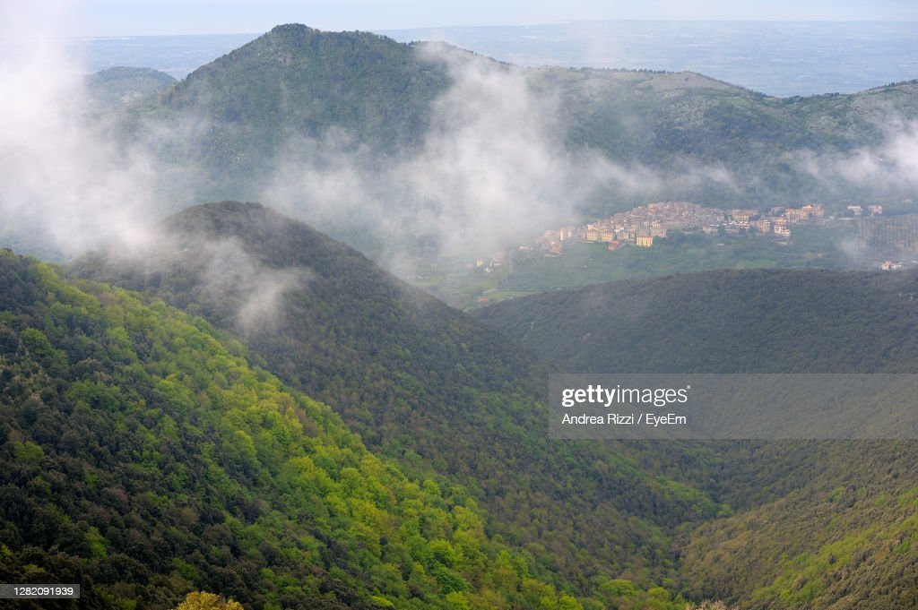 Panoramic View Over The Mountain : Foto stock
