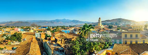 panoramic view over trinidad, cuba - latin america stock pictures, royalty-free photos & images