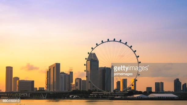 シンガポールの都市景観をパノラマ ビュー - シンガポール文化 ストックフォトと画像