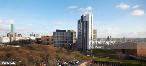 Panoramic view with cityscape Leeds Central Village Leeds United Kingdom Architect John McAslan Partners 2015