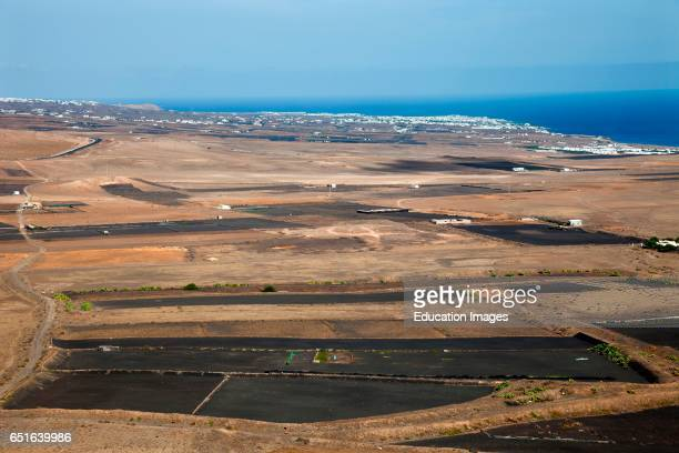Panoramic View with Puerto Del Carmen And Puerto Calero Lanzarote Canary Spain