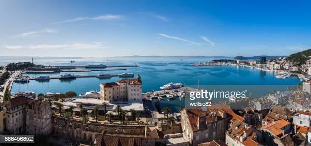 Panoramic views facing South of Split