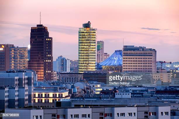 Panoramic views over Berlin Potsdamer Platz