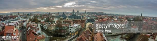 panoramic views over erfurt - erfurt stock pictures, royalty-free photos & images