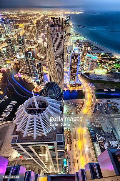 Panoramic views over the city Dubai