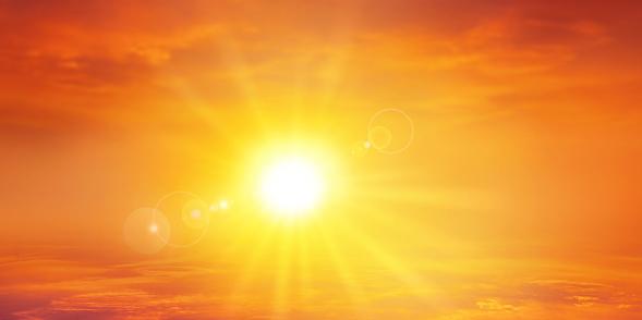 Panoramic warm sunset 537794373