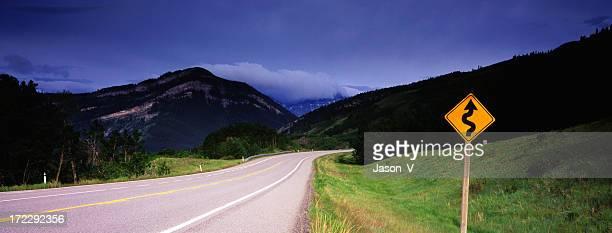 Panoramique de la Route sinueuse