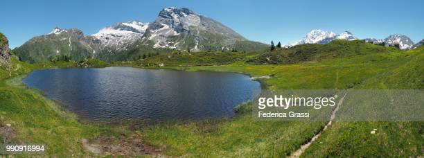 Panoramic with Hiking Trail at Lake Hopschusee, Simplon Pass