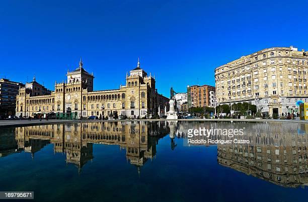 panorámica en la plaza zorrilla - valladolid spanish city stock pictures, royalty-free photos & images