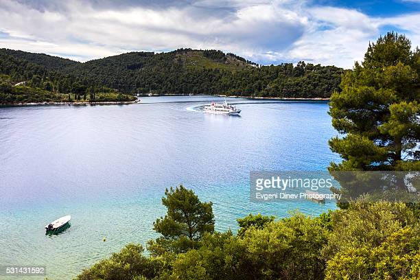 panormos beach - volos stock pictures, royalty-free photos & images