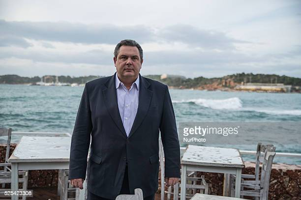 Panos Kammenos Greek politician and founder of the rightwing antiausterity party quotIndependent Greeksquot in Athens on January 12 2015