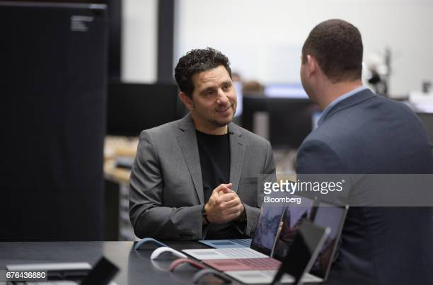 Panos Panay, corporate vice president of Microsoft Corp. Surface, smiles during an interview at the hardware lab of the Microsoft Corp. Main campus...
