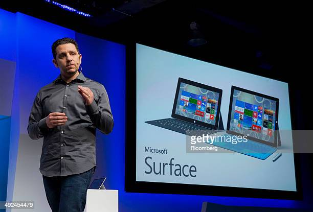 Panos Panay, corporate vice president of Microsoft Corp. Surface, speaks during the unveiling of the Surface Pro 3 at an event in New York, U.S., on...