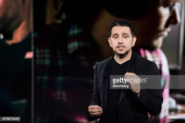 Panos Panay, corporate vice president of Microsoft Corp. Surface, speaks during the #MicrosoftEDU event in New York, U.S., on Tuesday, May 2, 2017....