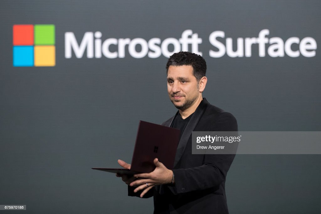 Microsoft Unveils New Surface Laptop : News Photo