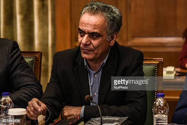 Panos Skourletis Minister of the Interior attends kick up meeting of the new cabinet of PM Alexis Tsipras in Athens on November 6 2016
