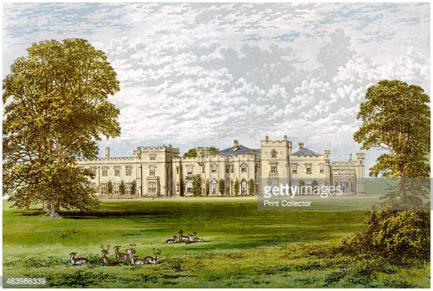 Panshanger Park Hertfordshire home of Earl Cowper c1880 A print from A Series of Picturesque Views of Seats of the Noblemen and Gentlemen of Great...