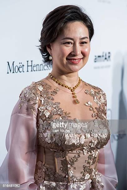 Pansy Ho attends the 2016 amfAR Hong Kong gala at Shaw Studios on March 19 2016 in Hong Kong Hong Kong