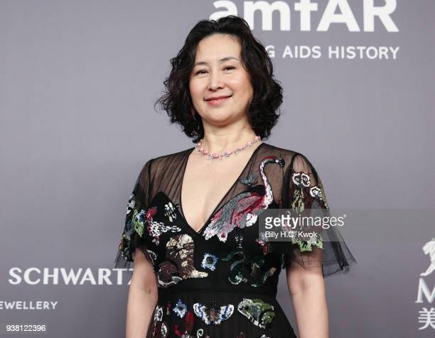 Pansy Ho attends the amfAR Hong Kong Gala 2018 at Shaw Studios on March 26 2018 in Hong Kong Hong Kong