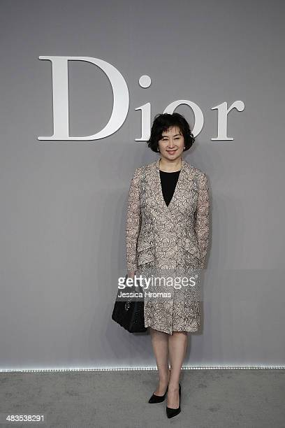 Pansy Ho attends the Dior Haute Couture Spring Summer 2014 fashion show on April 9 2014 in Kowloon West Hong Kong