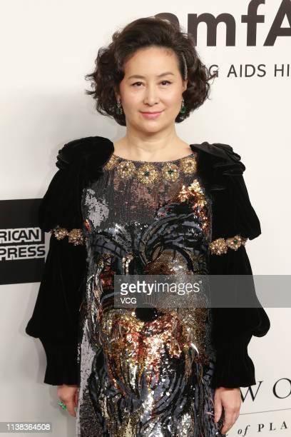Pansy Ho daughter of Hong Kong and Macaubased businessman Stanley Ho attends the amfAR Gala Hong Kong 2019 at the Rosewood Hong Kong on March 25 2019...