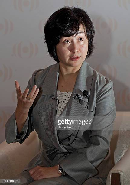 Pansy Ho managing director of Shun Tak Holdings Ltd and cochairman of MGM China Holdings Ltd speaks during a group interview in Macau China on...