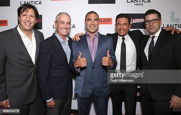 Pantelion CEO Paul Presburger Producer James McNamara Euardo Yanez Fernando Colunga and Director Joe Menedez attend the Pantelion Films' Ladrones Los...